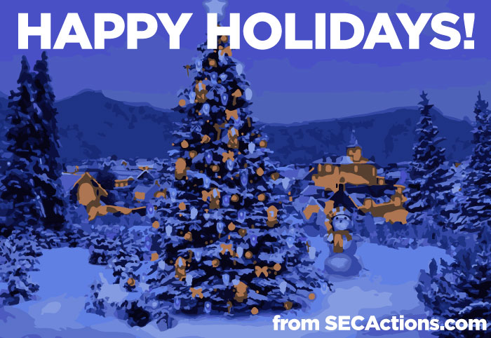 Happy Holidays from SECActions