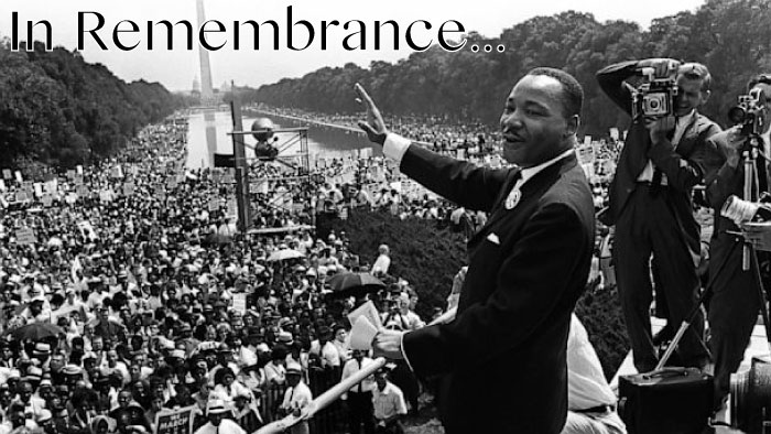 in remembrance of martin luther king jr