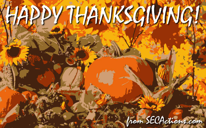 happy thanksgiving from secactions